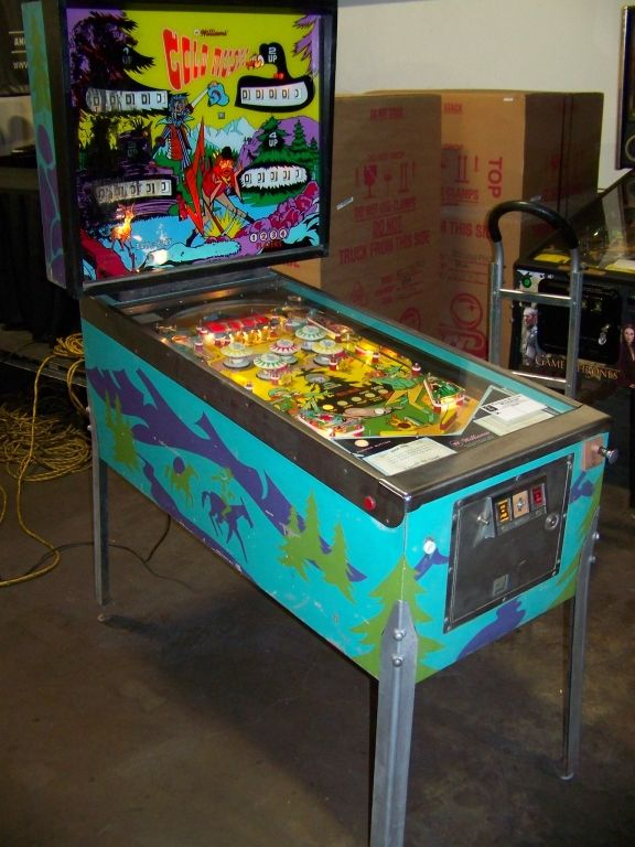 "1962 Gold Rush ""Williams"" Pinball Machine"