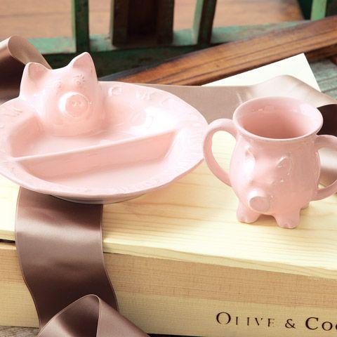 Pig Plate and mug
