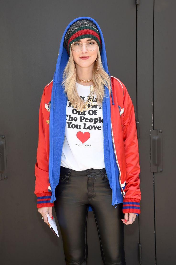 Chiara Ferragni attends the Marc Jacobs Fall '17 Show.