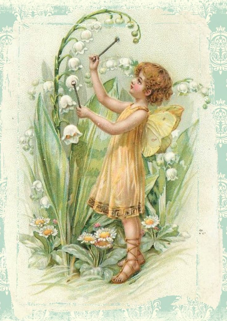 Fe, Vintage, Blomster, Vinger, Eventyr, Fantasi