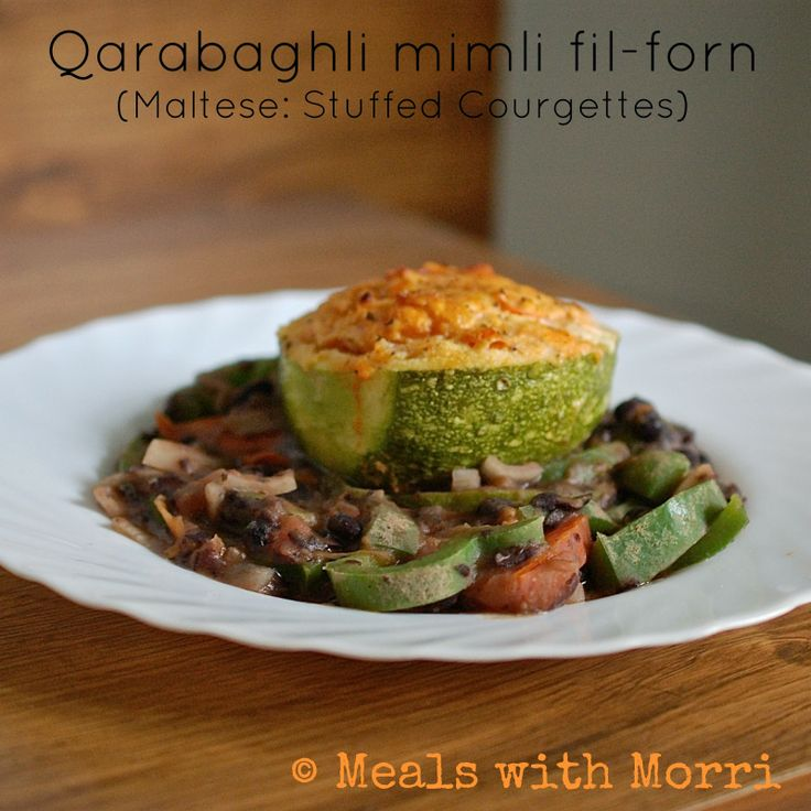 Another Maltese Recipe: Vegetarian Stuff Courgettes (including vegan substitutions)