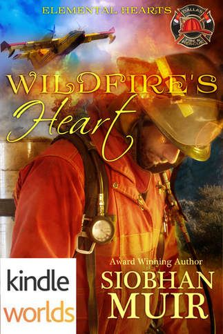 The snippet is from the beginning of WILDFIRE'S HEART, Book 1 in the Elemental Hearts series, and a crossover novella with Paige Tyler's Dallas Fire & Rescue KindleWorld #DFRKW. This tale is a M/F paranormal romantic suspense. The Hotshots are finishing up a fire and getting ready to head into town. Captain Halmi speaks first, but we're in Saif's POV.