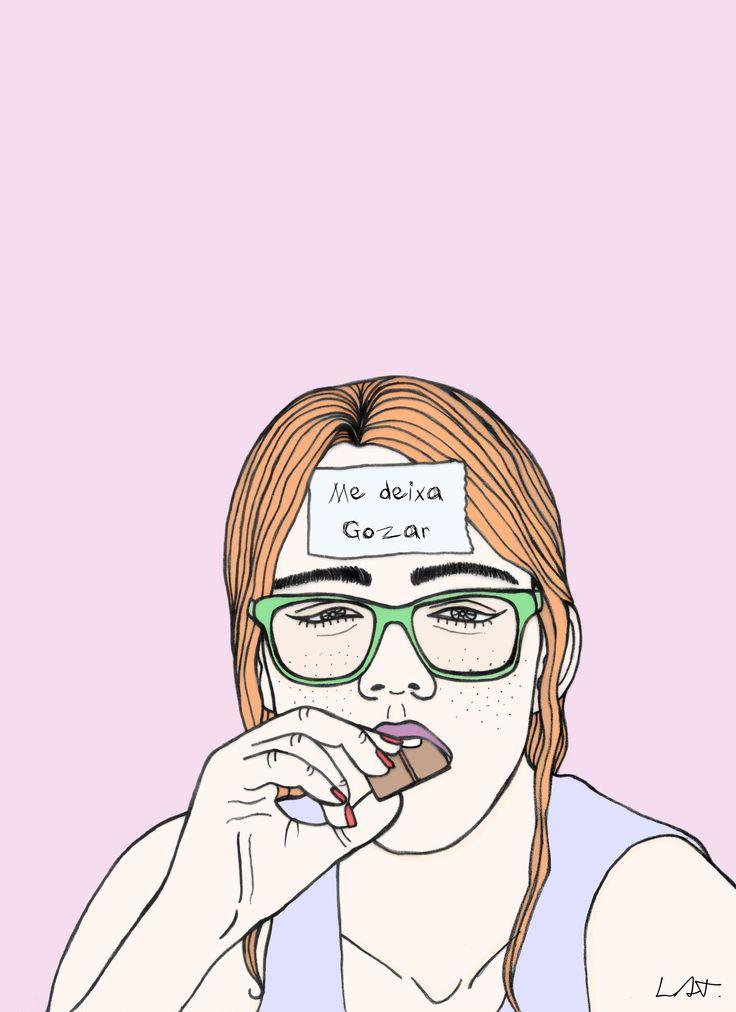 """""""Me deixa gozar"""": as ilustrações feministas de Layse Almada"""