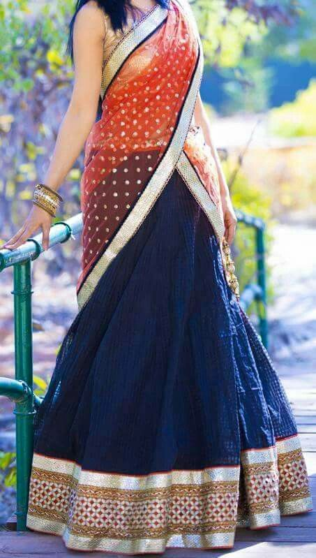 Half Saree More