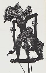 puppets-2.  The Wayang Kulit Shadow Puppet Theater of Indonesia from Marla Mallett Textiles