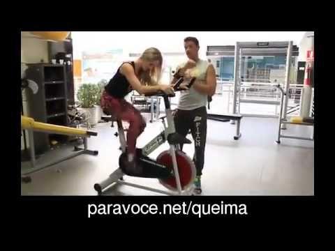 Treino De Bicicleta Ergométrica Para Perder Gordura e Emagrecer - YouTube