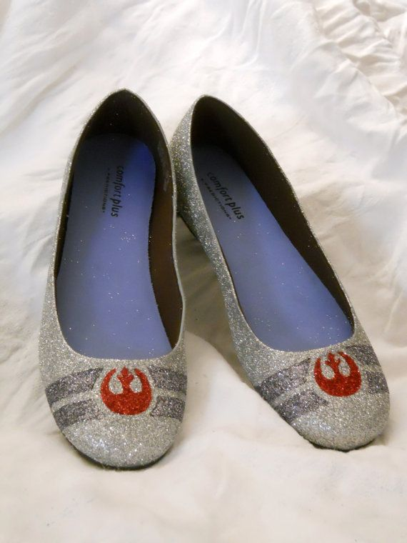 Rebel alliance glitter shoes