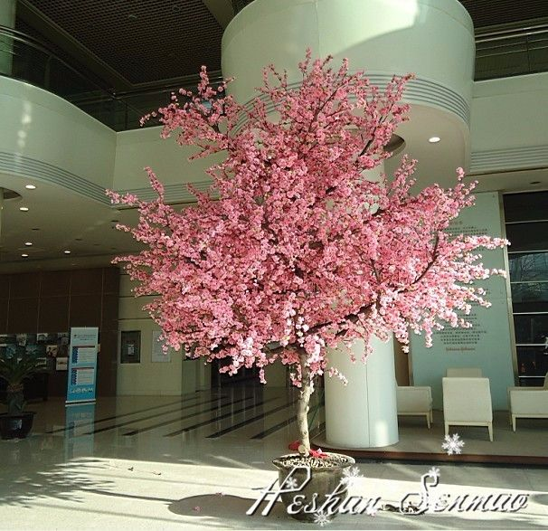 Source China Manufacture Artificial Plastic Pink Flowers Cherry Blossom Tree For Wedding Decor Artificial Cherry Blossom Tree Blossom Trees Cherry Blossom Tree
