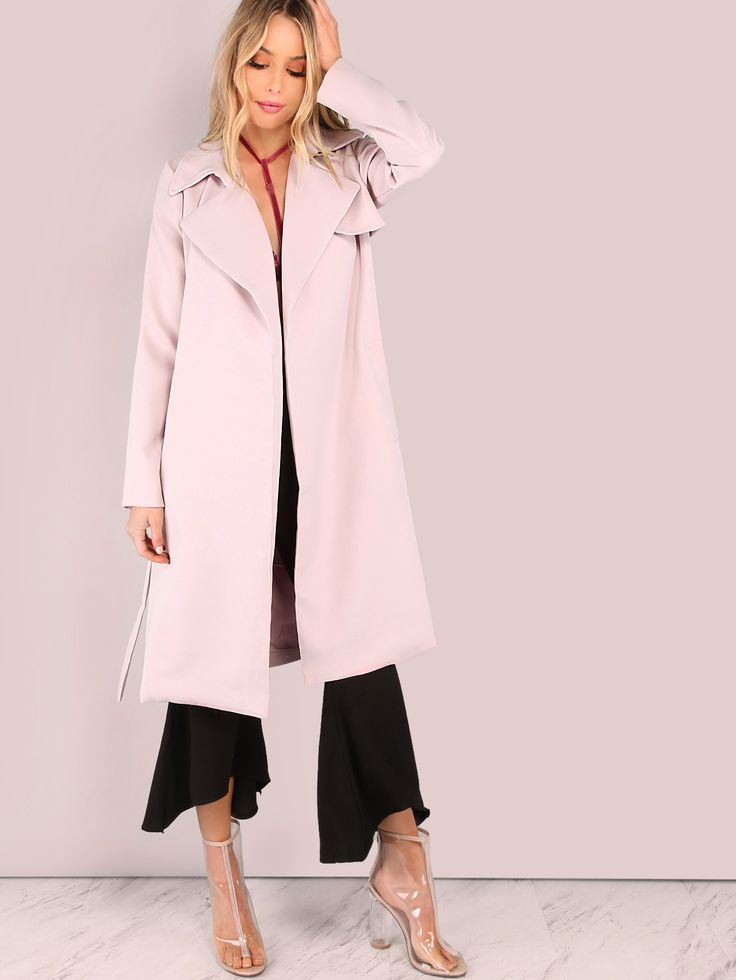 $60 or $70 Shop Open Waterfall Trench Coat BLUSH online. SheIn offers Open Waterfall Trench Coat BLUSH & more to fit your fashionable needs.