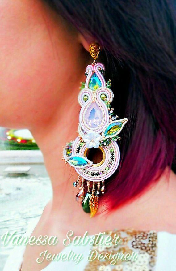 Guarda questo articolo nel mio negozio Etsy https://www.etsy.com/it/listing/504501782/earrings-dafne