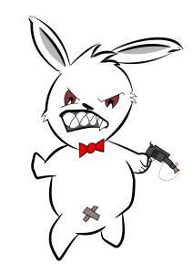 Evil #Rabbit made in #InkScape