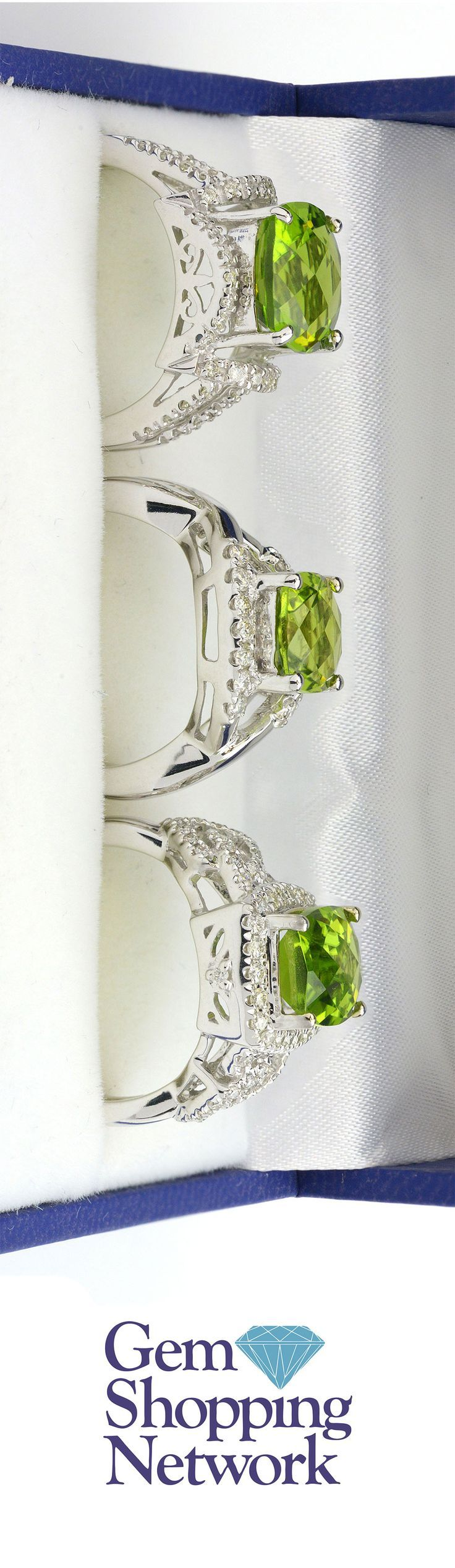 Celebrate your August birthday with Peridot rings. Peridot is the birthstone of August and is a stunning green gemstone! Tune into Gem Shopping Network to see more loose gemstones and jewelry any time of day!