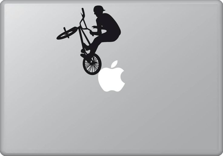 Biker 1 | MacBook sticker | #pasteit #sticker #stickers #macbook #apple #blackandwhite #art #drawing #custom #customize #diy #decoration #illustration #design #sport #sports #extremesport #extremesports #bike #biker #freestyle #freestyler