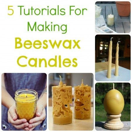 """5 Tutorials For Making Beeswax Candles""  (tutorials)  [CandleMaking.CraftGossip.com]"