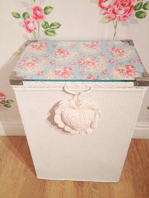 Vintage Style At Home: Lloyd Loom Linen Basket Makeover....
