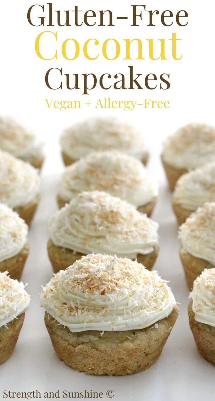 Gluten Free Coconut Cupcakes Vegan Allergy Free Recipe Dessert Recipes Coconut Cupcakes Food