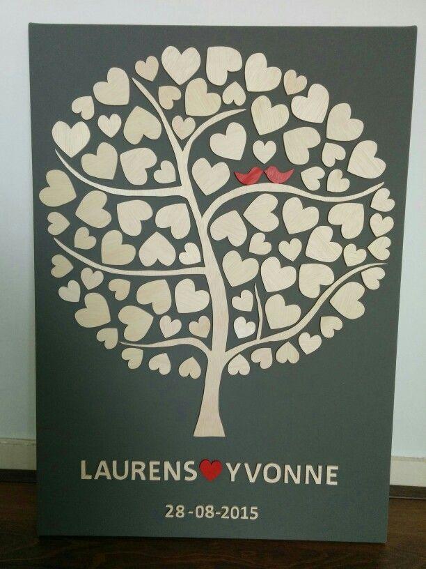Wedding Tree Guestbook Gastenboek Boom Voor Bruiloft Met