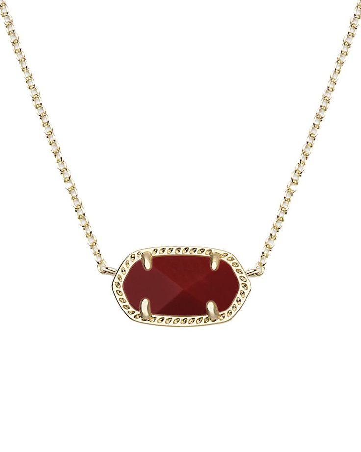 Elisa Pendant Necklace in Dark Red - Kendra Scott Jewelry.