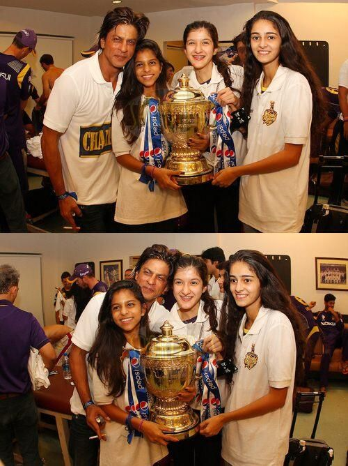 congrats :D #KKR & #SRK RT @peecee addicted it is extremely sweet!! @Omg SRK with his girl gang @Kolkata Knight Riders