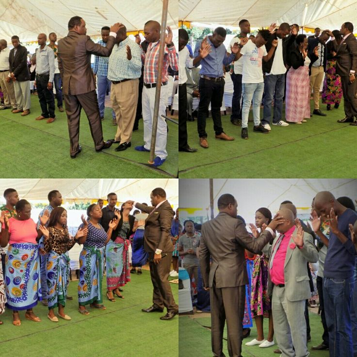 Prayer line with Apostle T Mabasa