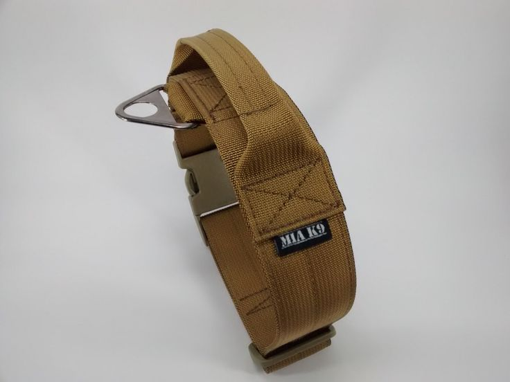 Tactical K9 Military dog collar with handle, Coyote Brown , size L and XL, width 1.5inch by MIaK9 on Etsy https://www.etsy.com/listing/227253375/tactical-k9-military-dog-collar-with