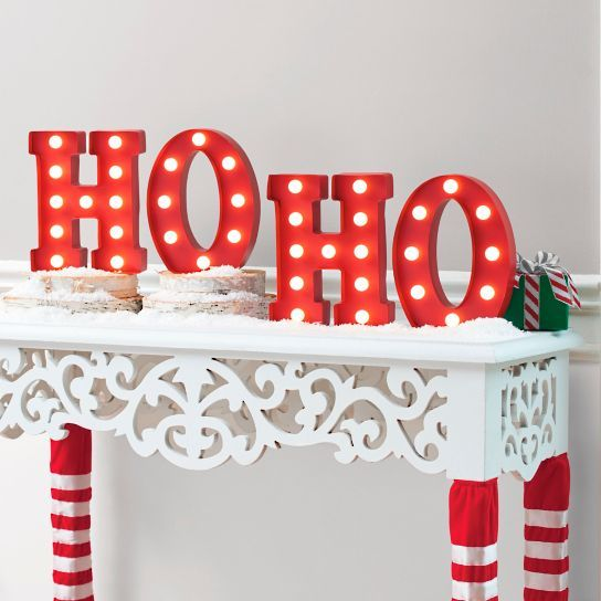 1000 ideas about light up letters on pinterest marquee With ho ho ho lighted letters