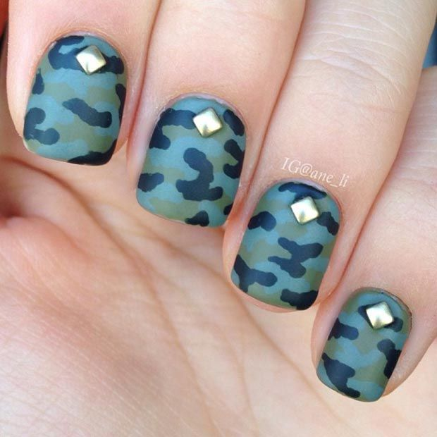 Pinterestteki 25den fazla en iyi camo nail designs fikri camo 80 nail designs for short nails prinsesfo Image collections