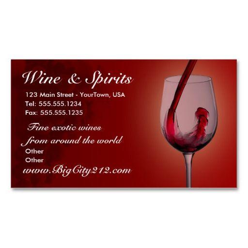 183 best wine business cards images on pinterest lyrics text customizable wine shop business cards colourmoves