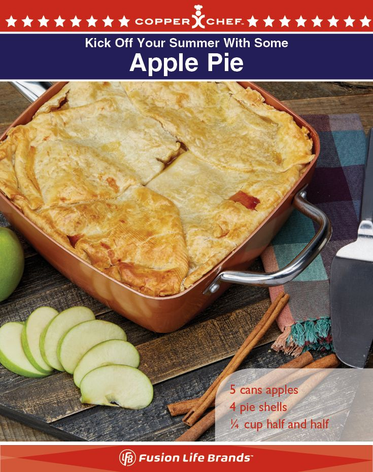 Make a delicious and simple apple pie in your Copper Chef pan!
