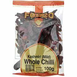 Kashmiri Chilli Peppers (Whole) - Fudco