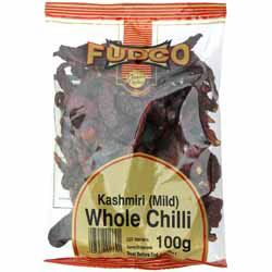 Kashmiri Chilli Peppers (Whole) - Fudco