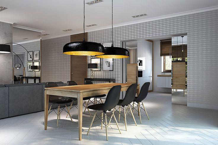 AVANGARDE oak table. Size: 200+2x50/90/76. Colour: Tobacco. - www.miloni.pl MILONI: wooden table, oak table, natural wood table, table design, furniture design, modern table