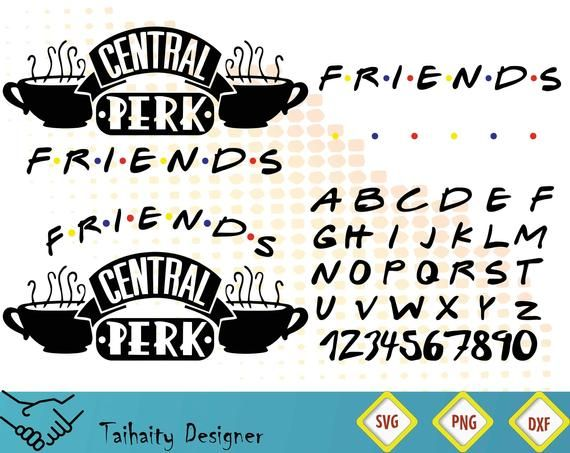 Pin by Etsy on Products | Cricut, Friends font, Friends tv