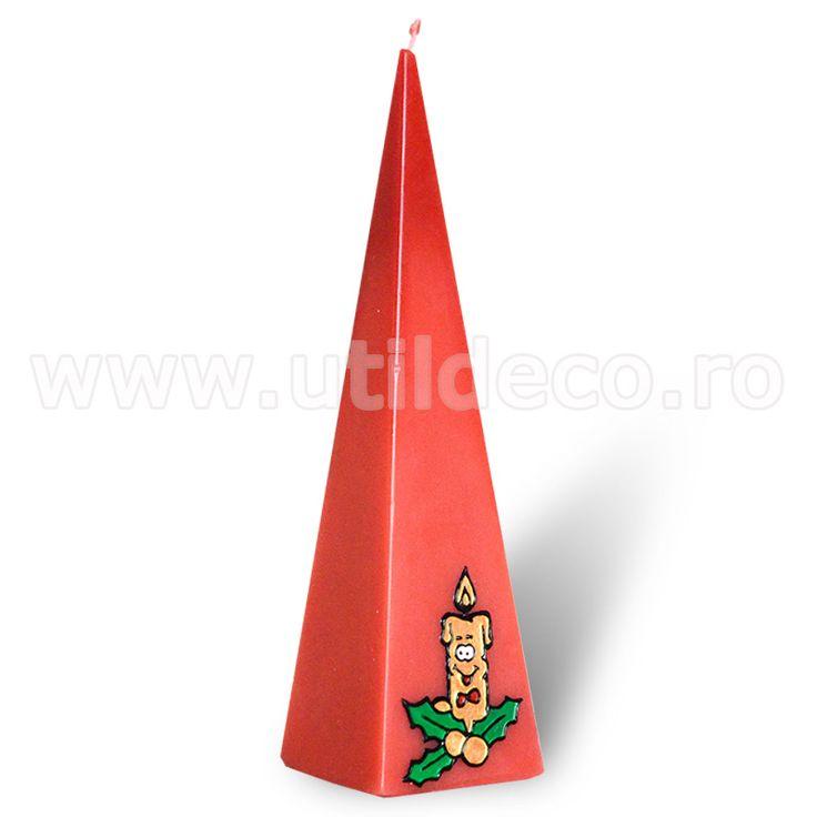 Lumanare tip piramida - Util Deco