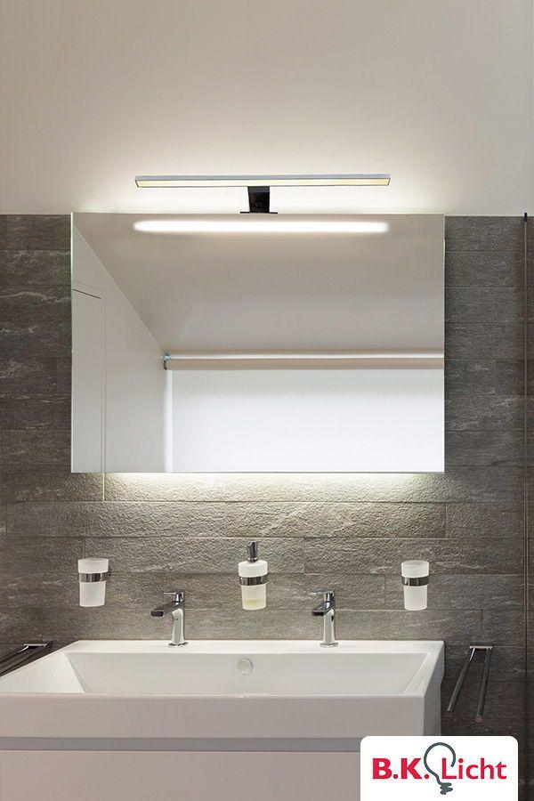 Moderne Led Aufbaulampe Bzw Spiegelleuchte Neutral Weiss Helles Licht Perfekt Als Schminklicht Oder Die Rasur Am Morgen Mit Bildern Badezimmerspiegel Licht