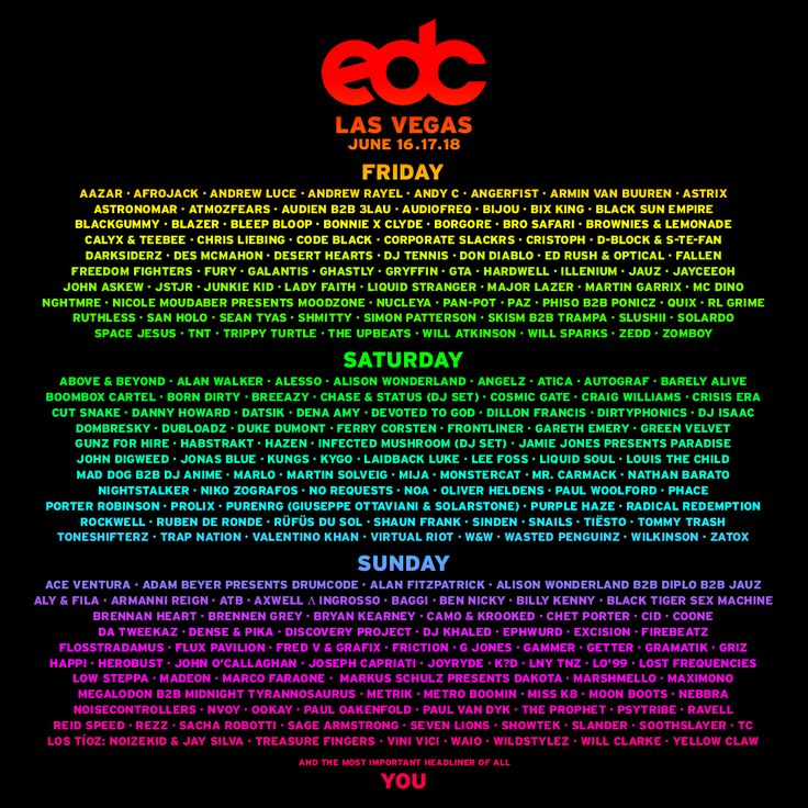LINEUP - EDC Las Vegas
