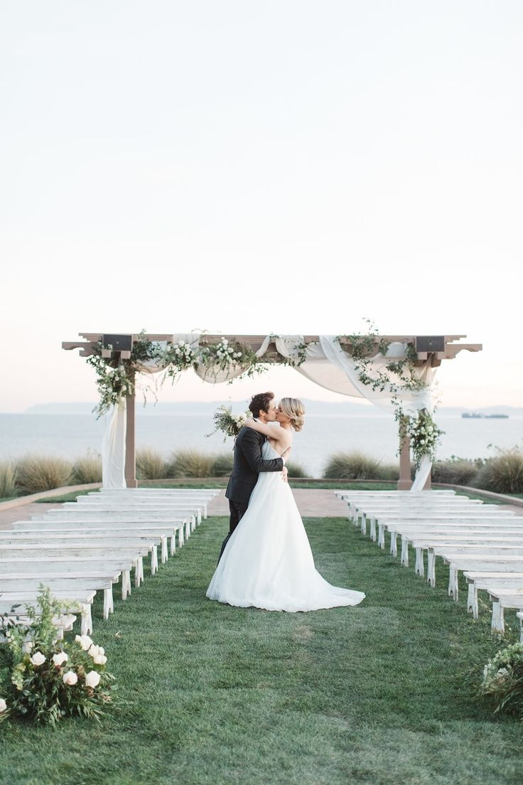 Our Wedding Day – I'm Mrs. Manno!Our Wedding Day - I'm Mrs. Manno! | Ali Fedotowsky, precious and blooming floral design, www.preciousandblooming.com, smores cart, desert, escort cards, wedding, flowers, wedding flowers, arbor, wedding arbor, terranea resort wedding, beach wedding