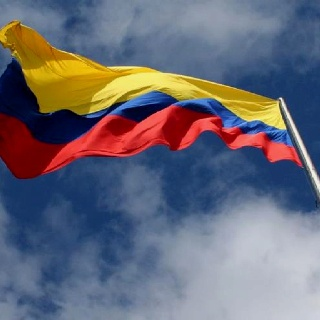 My beautiful Colombian flag.
