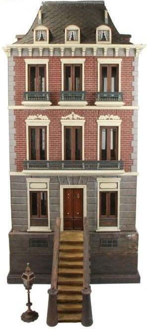 Spanish Second Empire House, ca. 1888. Beautiful dollhouse, great style and detail. .....Rick Maccione-Dollhouse Builder www.dollhousemansions.com
