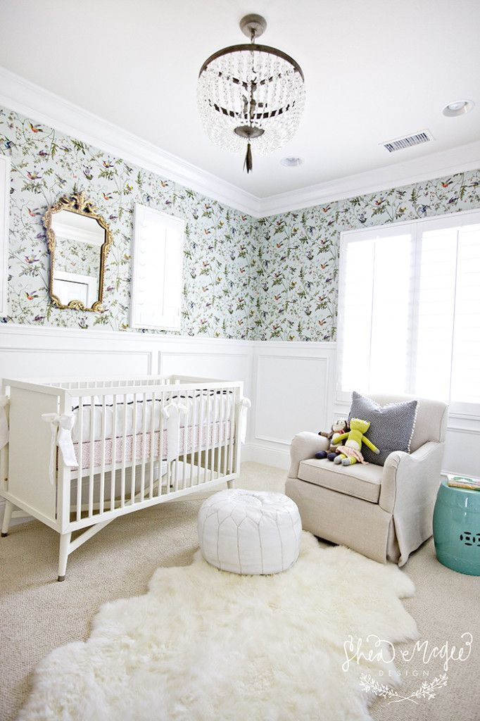 Sweet baby girl's nursery #splendidspaces: Mcgee Design, Idea, Wallpapers, Shea Mcgee, Baby Girls, Baby Rooms, Rugs, Girls Nurseries, Kids Rooms