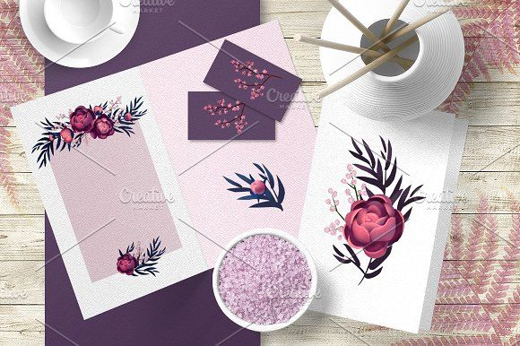 Flower Clipart by Ira Cvetnaya on @creativemarket