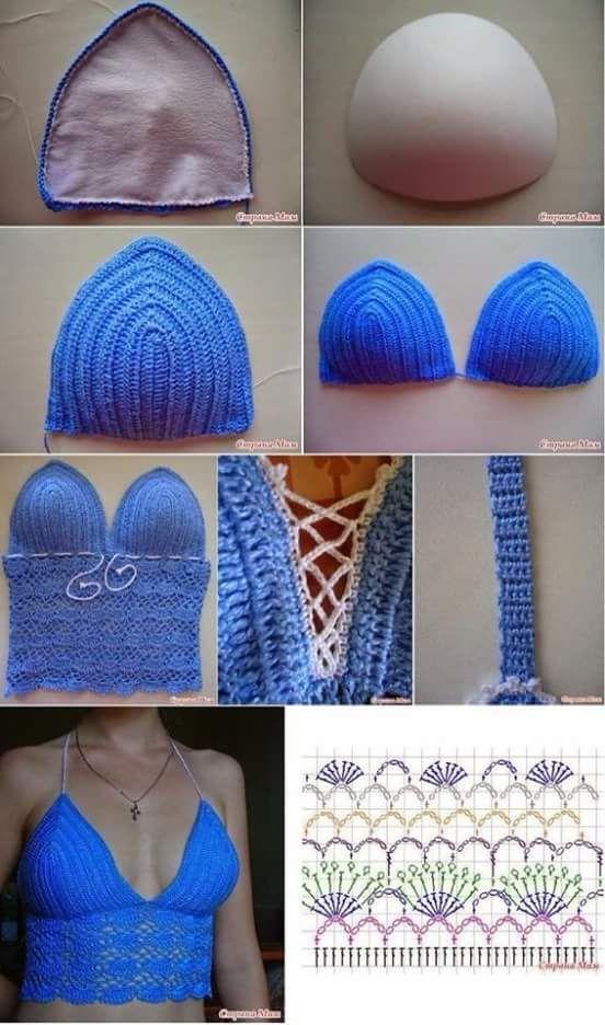 Forrar top crochet
