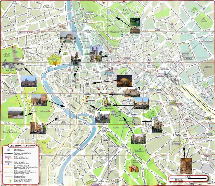 map of rome with attractions