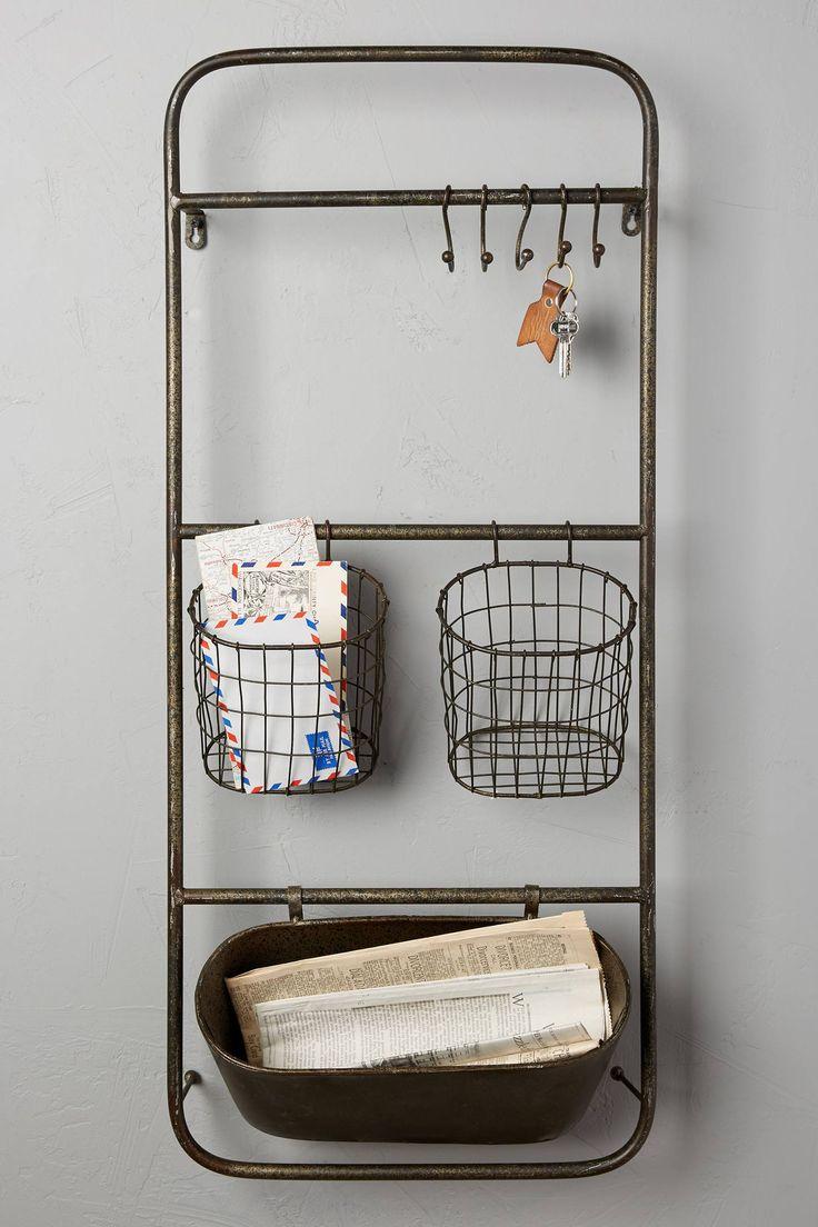 Slide View: 1: Iron Entryway Shelf Set