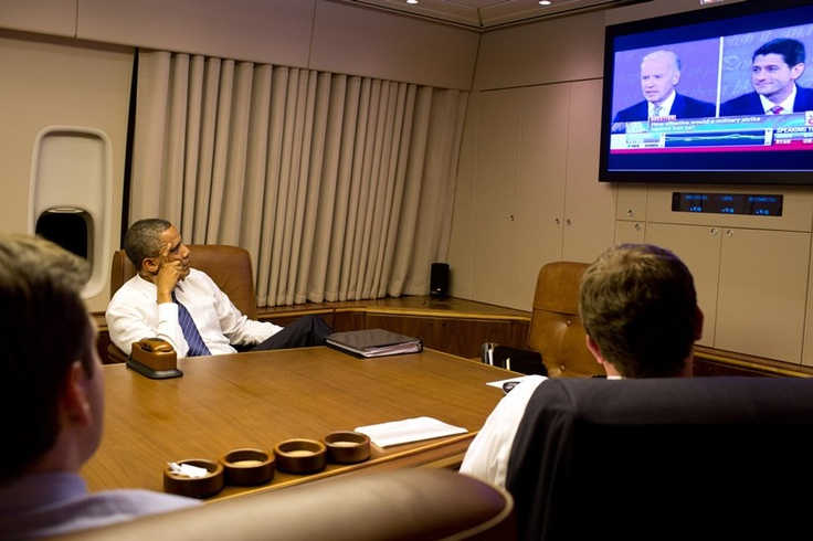 Obama Watches Joe Biden's Debate From Air Force One
