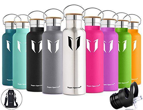 Super Sparrow Botella de agua aislada al vacío de acero inoxidable, diseño de pared doble, boca estándar - 500ml & 750ml & 1000ml - Eco Friendly & BPA gratis - para correr, gimnasio, yoga, ciclismo, al aire libre y camping, coche - ideal como botella de agua deportiva (acero inoxidable, 500ml-17oz) #Super #Sparrow #Botella #agua #aislada #vacío #acero #inoxidable, #diseño #pared #doble, #boca #estándar #Friendly #gratis #para #correr, #gimnasio, #yoga, #ciclismo, #aire #libre #camping…
