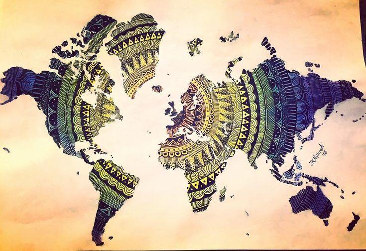 Pin by katrina on inspiration Pinterest Drawings, Zentangles - copy rainbow world map canvas