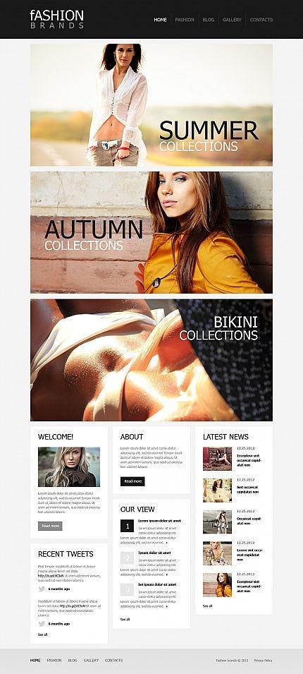 Fashion Brand Moto CMS HTML Templates by Mercury