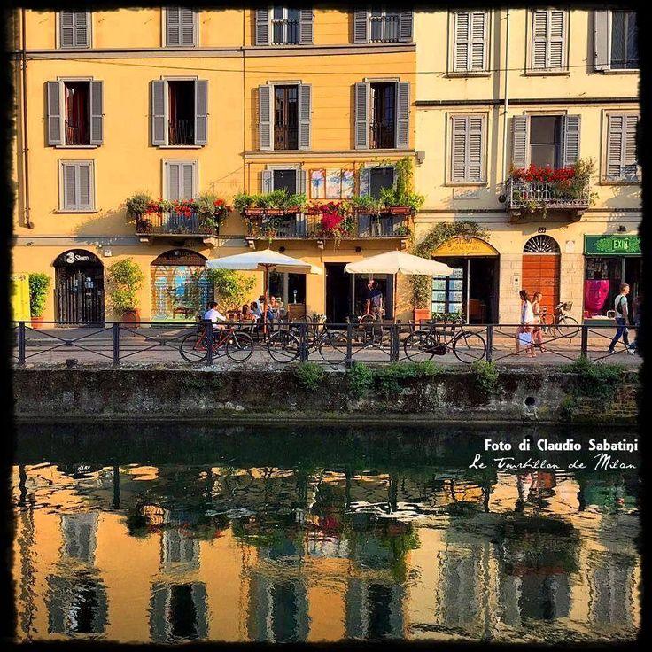 Milano, primavera sui Navigli, foto Claudio Sabatini
