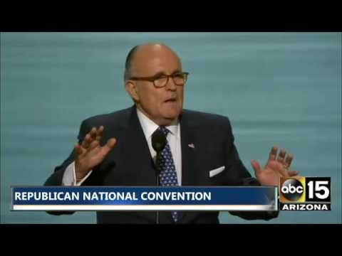 "Rudy Giuliani Full Speech at Republican National Convention - HE'S FIRED UP FOR TRUMP!! ~ Giuliani brought the house down with a fiery address defending law enforcement, thanking ""every police officer who is out tonight protecting us. When they come to save you, they don't ask whether you're black or white! They just come to save you!"" ~ RADICAL Rational Americans Defending Individual Choice And Liberty"